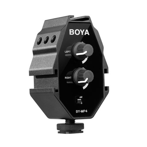 картинка BOYA BY-MP4  Audio Adapter for Smartphone, DSLR Cameras, Camcorders от магазина Chako.ua