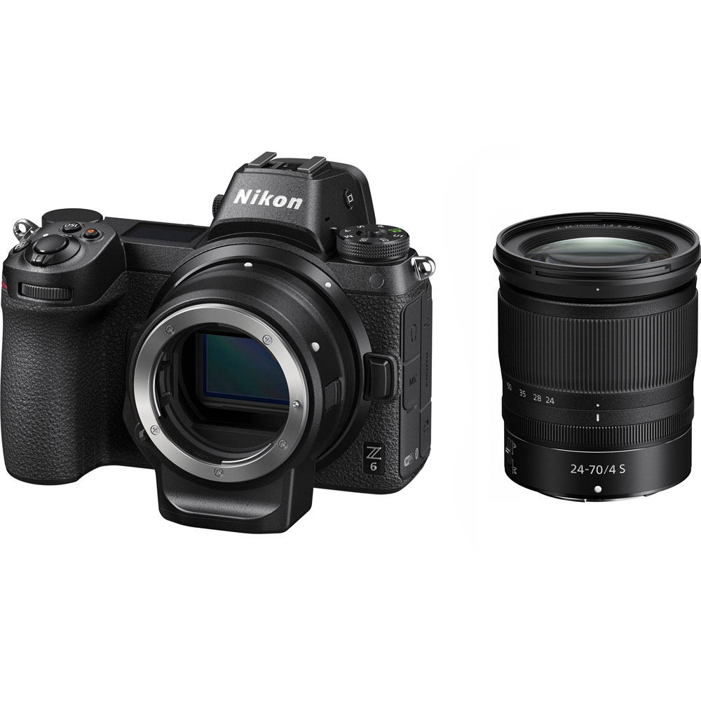 картинка Nikon Z 6 kit 24-70 + FTZ Mount Adapter  от магазина Chako.ua